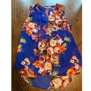 Daniel Rainn blue floral sleeveless top